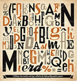 Various Retro Vintage Typography Collection vector image vector image