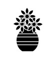 vase with flowers icon vector image
