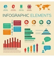 vintage retro infographics elements vector image