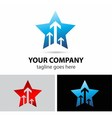 Vision and future star logo vector image vector image