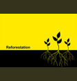 young trees with root vector image vector image