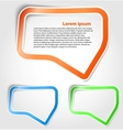 Speech bubbles as sticker vector image