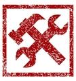 Upgrade grunge rubber stamp vector image