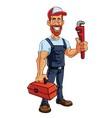Plumber Cartoon Mascot vector image