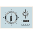 Rose Wind and Compass Set of vintage arrows vector image
