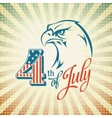 Independence Day holiday card with typography and vector image
