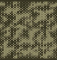 military camouflage seamless pattern hexagonal vector image