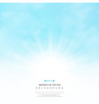 abstract of the sun with clouds on soft blue sky vector image vector image