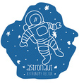 astronaut drawn vector image