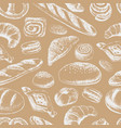 bakery hand draw seamless pattern vector image