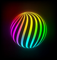 Bright light ball vector image vector image