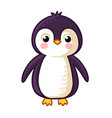cartoon penguin icon vector image