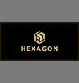 cd hexagon logo vector image vector image