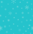 Christmas winter seamless pattern Snowflakes with vector image vector image