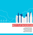 city of the future with alternative energy sources vector image vector image