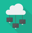 Cloud Computing Diagram Network vector image