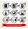 Computer evolution icons vector image