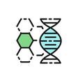 dna structure genetics molecule analysis flat vector image vector image