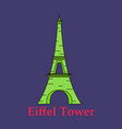 eiffel tower architecture from paris france vector image vector image