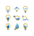 electric real estate logo icon graphic template vector image vector image