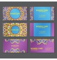 ethnic business cards vector image