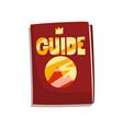 fantasy fairytale game board guide book vector image vector image