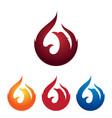 fire phoenix bird burning flame logo vector image
