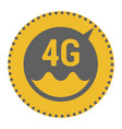 flat 4g template with speed meter icon and wave vector image