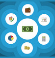 flat icon finance set of interchange cash vector image vector image