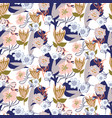 floral chaotic garden seamless pattern vector image