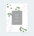 Floral wedding invitation greeting card with
