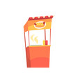 food stall with hot dogs fixed market stall for vector image