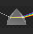 glass pyramid refraction light vector image vector image