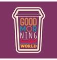 Good morning typography vector image