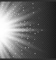 gray glowing half light burst explosion vector image vector image