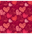 grunge heart pink seamless 380 vector image vector image