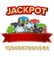 jackpot winner background gambling poker vector image vector image