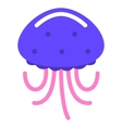 jellyfish marine sea flat vector image