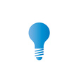 Lamp blue icon idea logo save of energy vector image