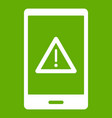 not working phone icon green vector image vector image