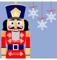 nutcracker background vector image vector image