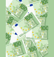 one hundred euro background vector image vector image