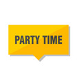 party time price tag vector image vector image