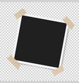 photo frame with shadow with adhesive tape vector image vector image