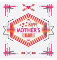 Pink Happy Mothers day line decoration message vector image vector image