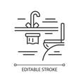 plane toilet linear icon vector image