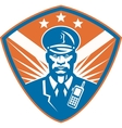 Policeman Security Guard Police Officer Crest vector image vector image
