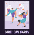 poster birthday party concept vector image vector image