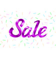 purple metal lettering sale price offer deal vector image vector image
