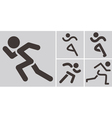 Running icons vector image vector image